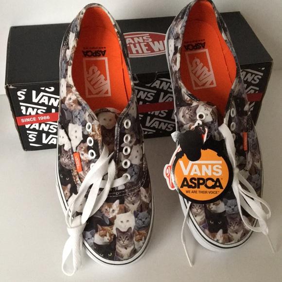 253f0fbd2a Vans Authentic ASPCA Cats Sneakers Men Size 10